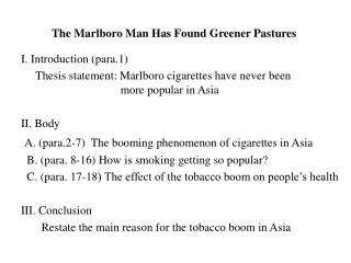 The Marlboro Man Has Found Greener Pastures