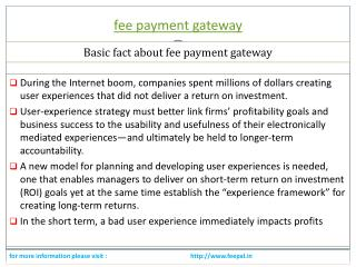 Best payment option for fee payment gateway