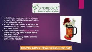 Artificial Flowers For Commercial and Residential Decoration