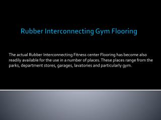 Rubber Interconnecting Gym Flooring