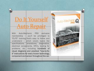 Do It Yourself Car Repair