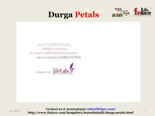 Durga projects are here with a new project Durga Petals whic