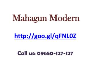 Welcome to Mahagun Modern