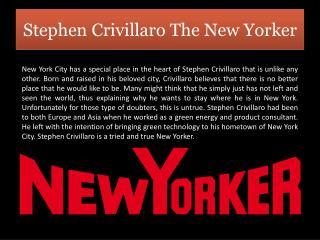 Stephen Crivillaro The New Yorker