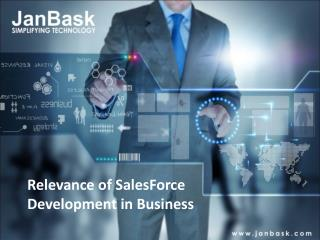 JanBask | Relevance of SalesForce Development in Business