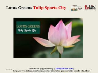 Lotus Greens Is coming up with a new residential project  lo