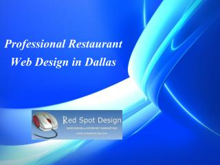 Professional Restaurant Web Design in Dallas