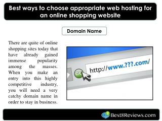 Best ways to choose appropriate web hosting for an online sh