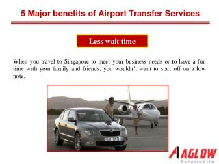 5 major benefits of airport transfer services