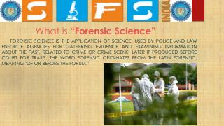 Certified Forensic Services - SIFS INDIA