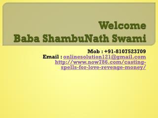 Online Love Vashikaran Baba Ji    91-8107523709