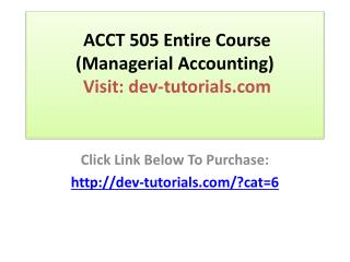 ACCT 504 Accounting Finance