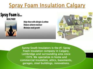 Spray Foam Insulation Calgary