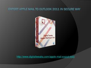 An error-free solution to export Mac Mail