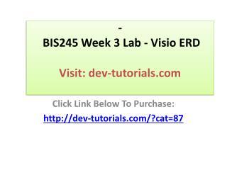 BIS245 Week 3 Lab - Visio ERD