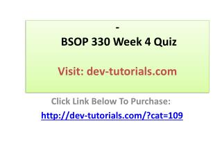 BSOP 330 Week 4 Quiz