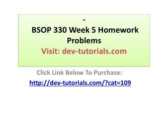 BSOP 330 Week 5 Homework Problems Mater Production Schedule