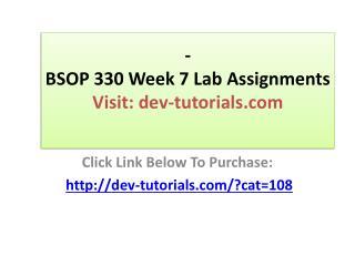 BSOP 330 Week 7 Case Study Final