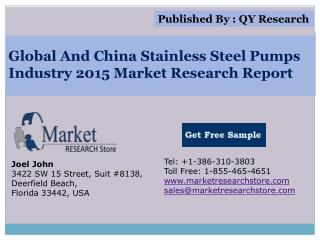 Global and China Stainless Steel Pumps Industry 2015 Market