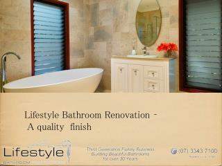Lifestyle Bathroom Renovation