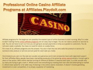 Professional Online Casino Affiliate Programs at Affiliates