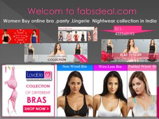shopp online women bra and panty in India