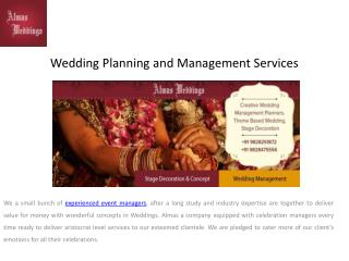 Wedding Planning and Management Services