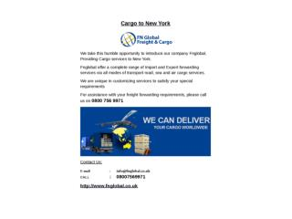 Customs Clearance Service Providers - Cargo Handling London