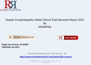 2015 Hepatic Encephalopathy Global Clinical Trials Overview