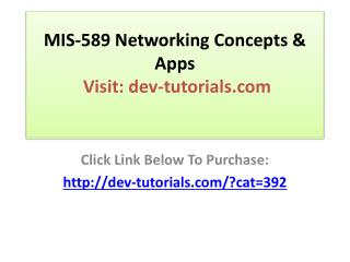 MIS-589 Networking Concepts & Apps Complete course