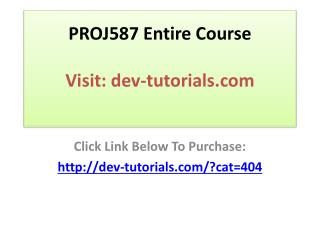 PROJ587 Entire Course / Advanced Program Management / Graded