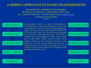 A SIMPLE APPROACH TO RADIO TRANSMISSIONS