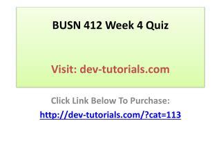 BUSN 412 Week 4 Quiz