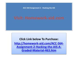 ACC 564 Assignment 2 - Hacking the AIS