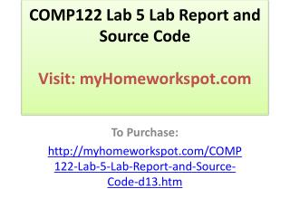 COMP122 Lab 5 Lab Report and Source Code