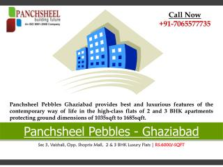 Panchsheel Pebbles Vaishali New Launch Property in Ghaziabad