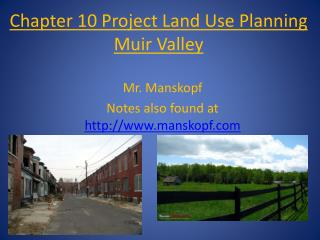 Chapter 10 Project Land Use Planning Muir Valley
