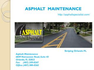 Pavement Maintenance Orlando FL