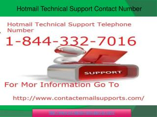 Hotmail Technical Support 1-844-332-7016 Phone Number USA