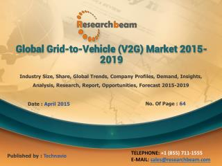 Global Grid-to-Vehicle Market Demand, Growth, 2015-2019