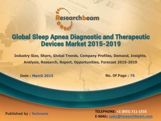 Sleep Apnea Diagnostic,Therapeutic Devices Market 2015-2019