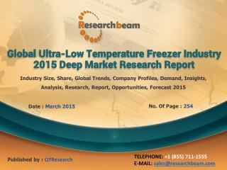 Global Ultra-Low Temperature Freezer Industry Growth, 2015