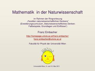 Mathematik  in der Naturwissenschaft