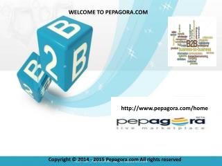 Pepagora.com is an online b2b portals at business Directory