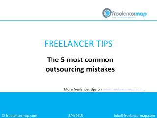 The 5 most common outsourcing mistakes