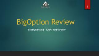 A Review of BigOption by Binary Ranking