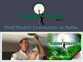 Find Electric Contractors in Dallas