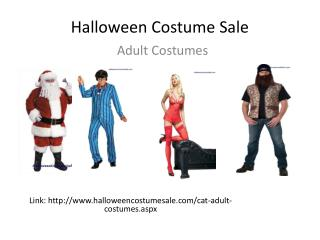 Halloween Costume Sale Presentations