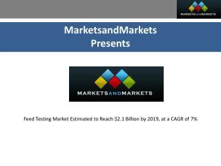Feed Testing Market by Livestock | MarketsandMarkets