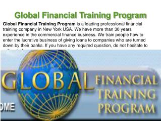 Global Financial Training Program New York, USA